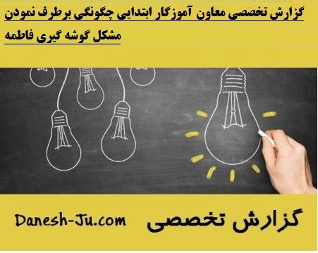 گزارش تخصصی معاون آموزگار ابتدایی
