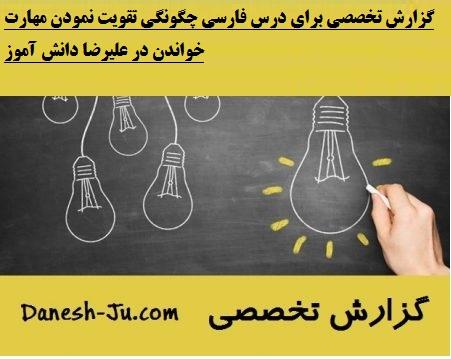 گزارش تخصصی برای درس فارسی