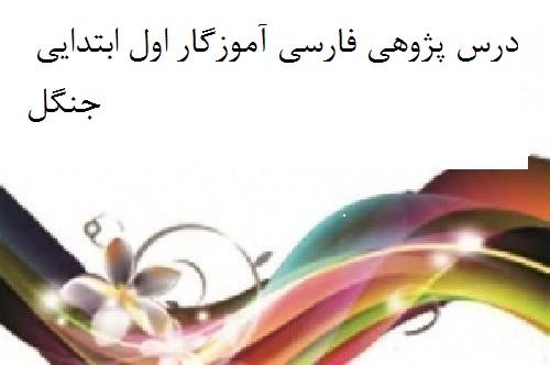درس پژوهی فارسی آموزگار اول ابتدایی